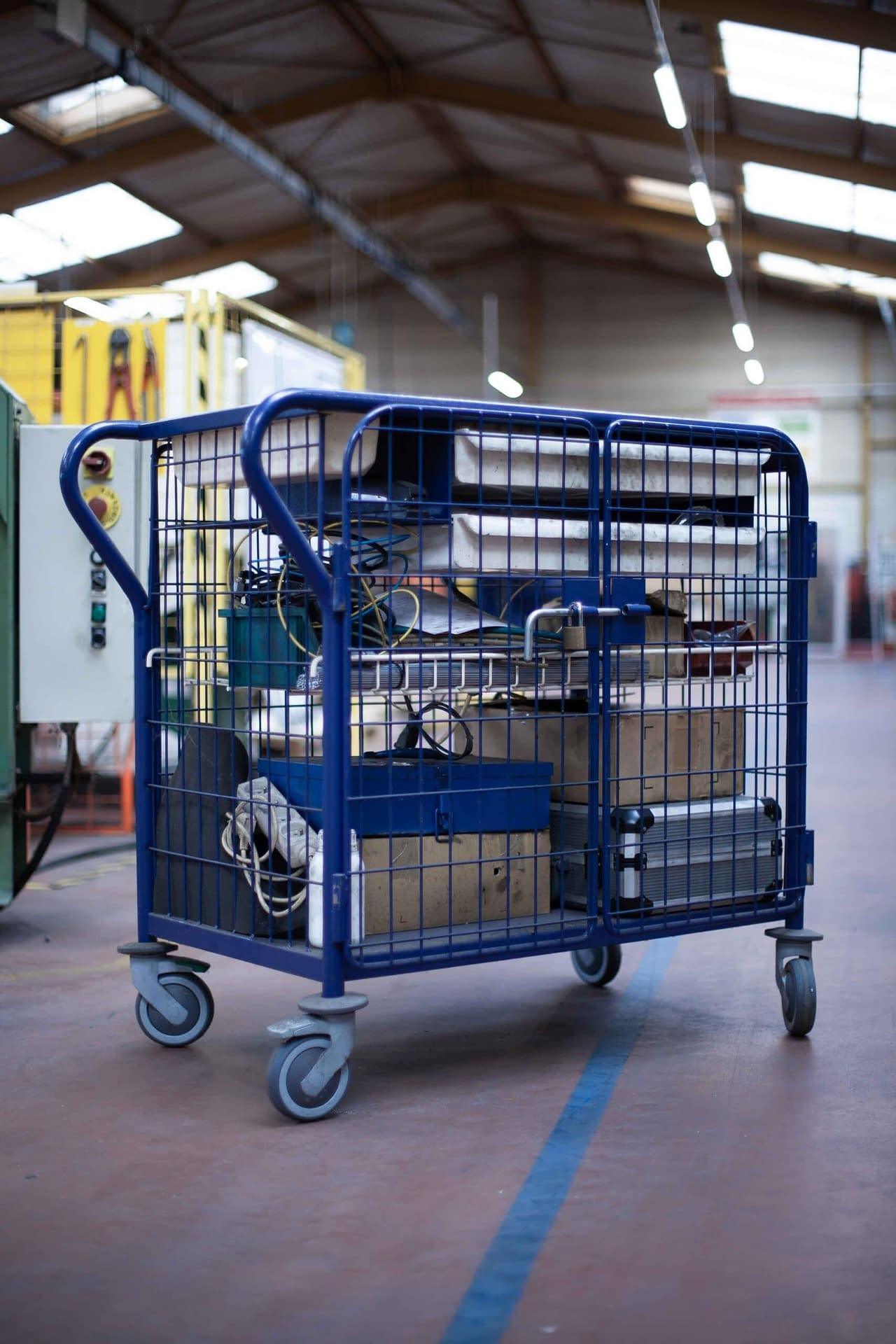 Fabricant de chariot lean : fabriqué à partir de tube et assemblage soudé