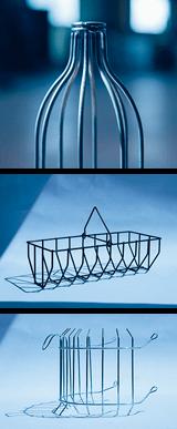 Prototype d'assemblage soudé : panier pour balles de golf et autre exemples de pièces en fil métallique